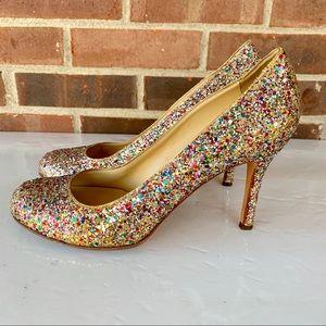 Kate Spade multicolored sparkling glitter pump
